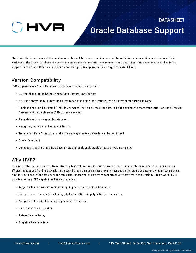 HVR_datasheet_Oracle_cover