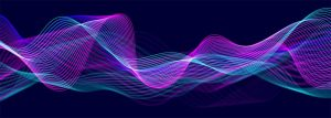 Abstract flowing technology background stock illustration