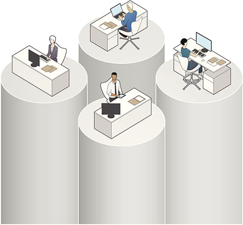 Data Silos Illustration
