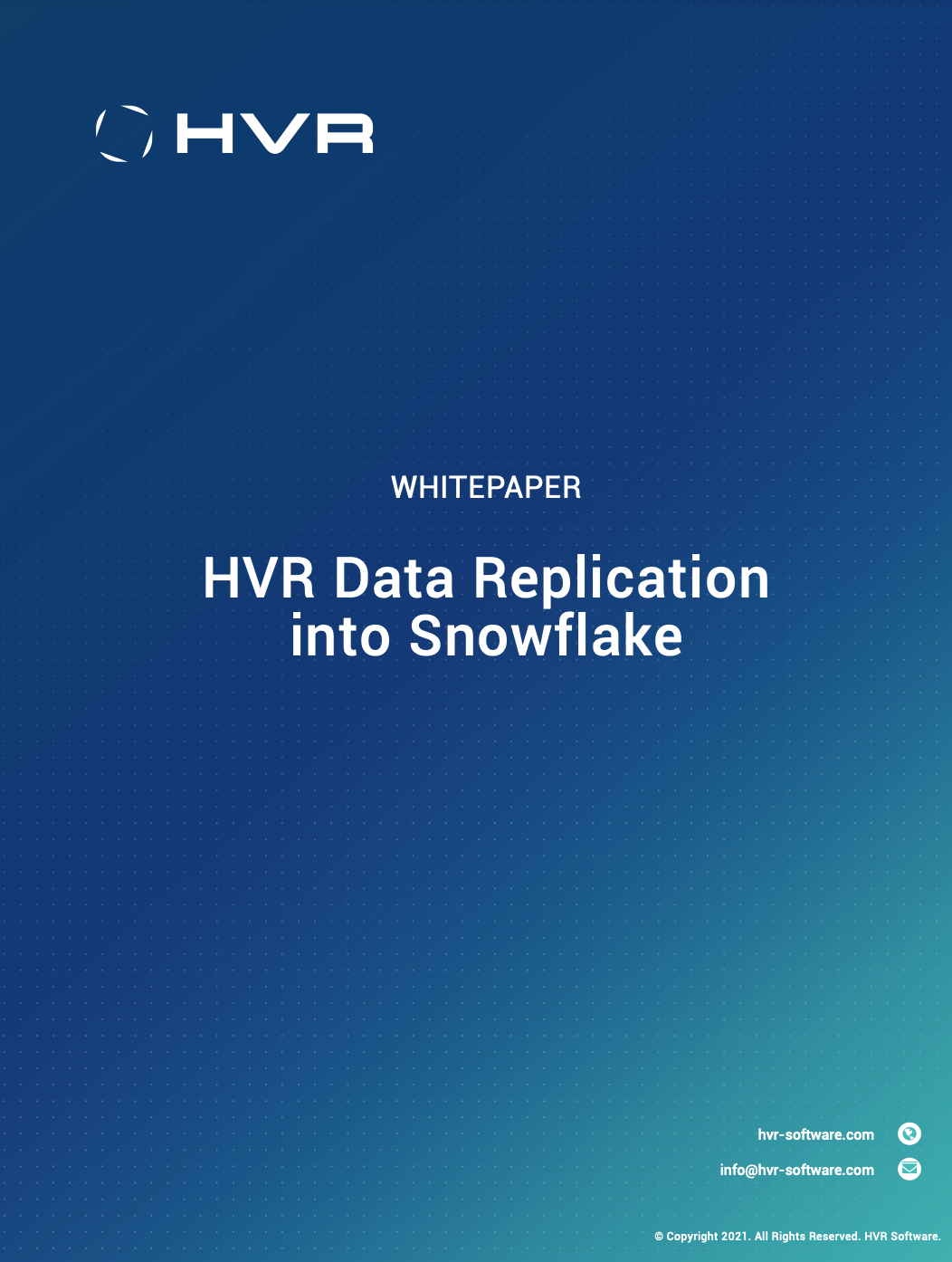 HVR Data Replication with Snowflake